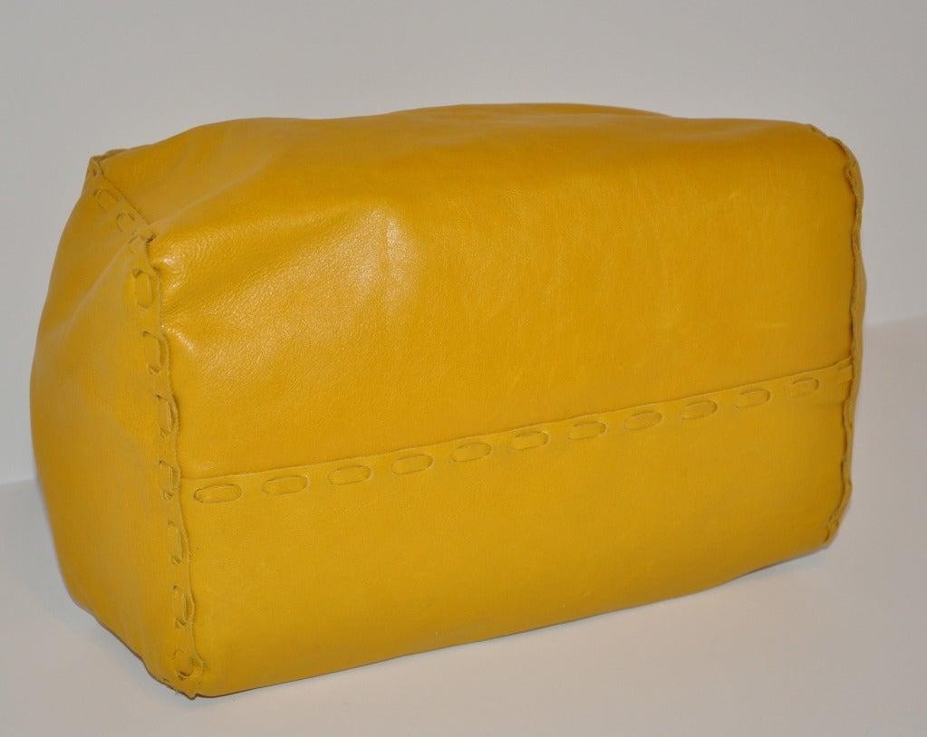 Jimmy Choo Banana-Yellow Huge Leather fringe Tote Bag For Sale 2