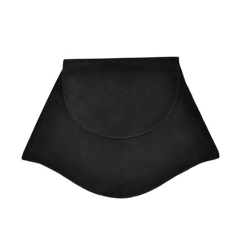 Charles Jourdan Black leather and suede clutch