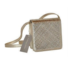 Stephane Kelian Metallic-Gold Bag