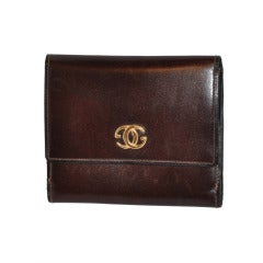 Gucci brown calfskin wallet