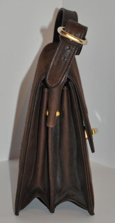Gucci Classic Coco-Brown Suede Handbag 2