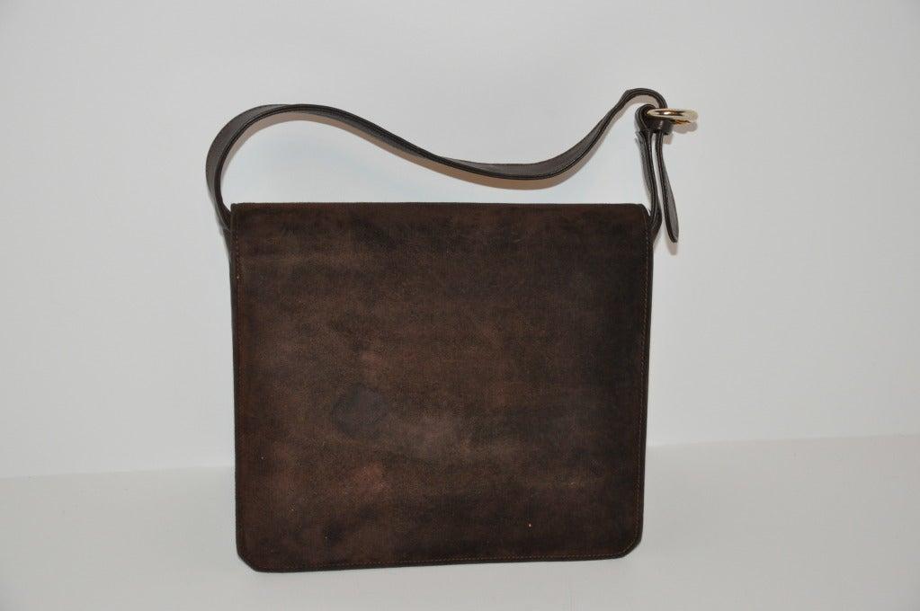 Gucci Classic Coco-Brown Suede Handbag 3