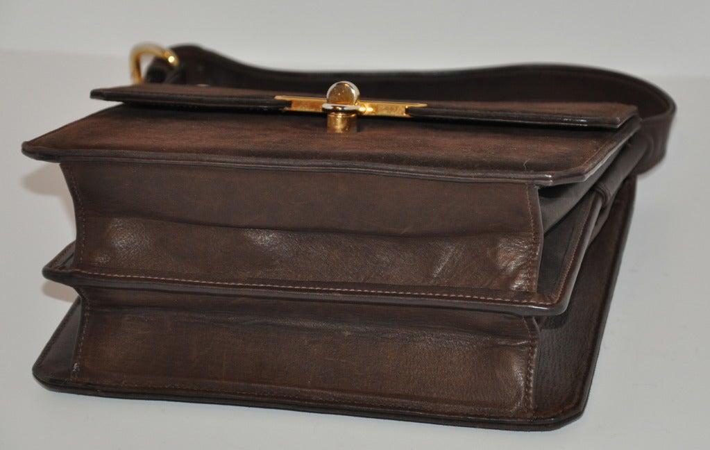 Gucci Classic Coco-Brown Suede Handbag 4