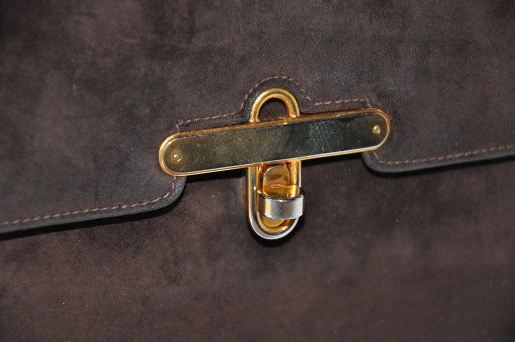 Gucci Classic Coco-Brown Suede Handbag 5