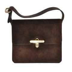 Gucci Classic Coco-Brown Suede Handbag