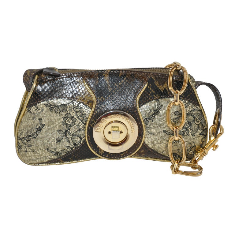Dolce & Gabbana Multi-Embossed leather bag For Sale