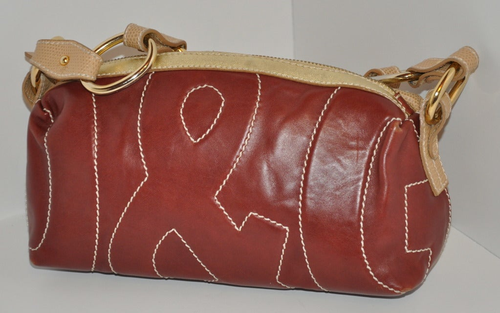 Dolce & Gabbana Multi-Textured leather bag In Excellent Condition For Sale In New York, NY