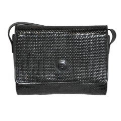 Fendi Black Woven Calfskin Shoulder bag