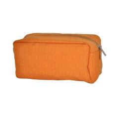 Fendi's Tangerine Monogramed Clutch