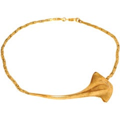 "Robert Lee Morris Signature Gold ""Stingray"" Necklace"