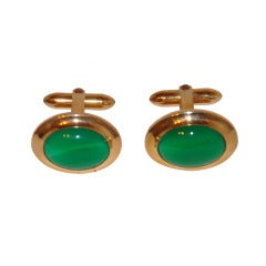 John Alden 12K with Cabochon Cuff Links