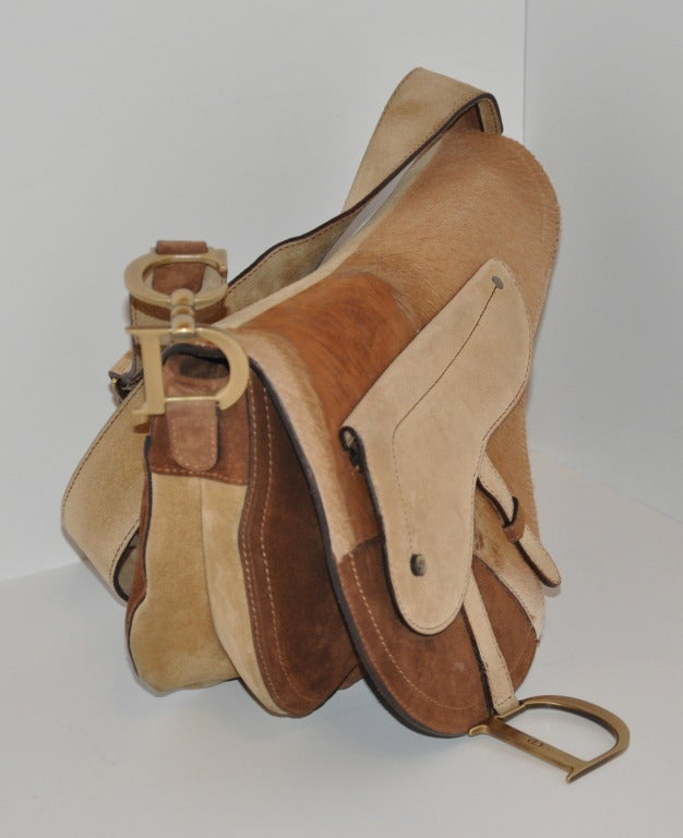 "Brown Christian Dior Large ""Saddle"" Shoulder Bag For Sale"
