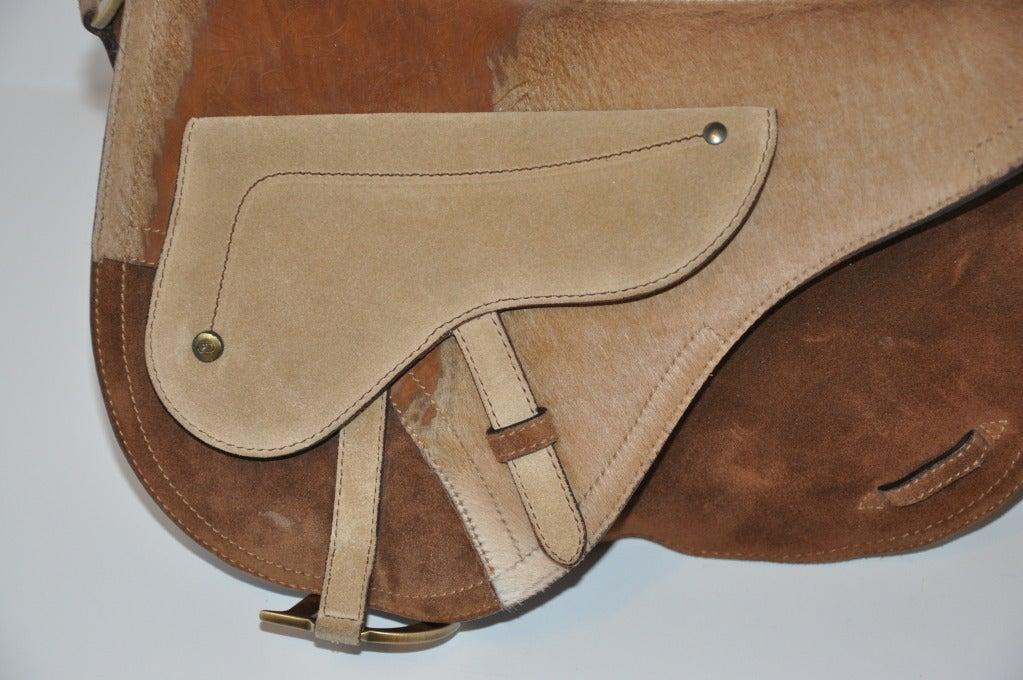 """Christian Dior Large """"Saddle"""" Shoulder Bag 5"""