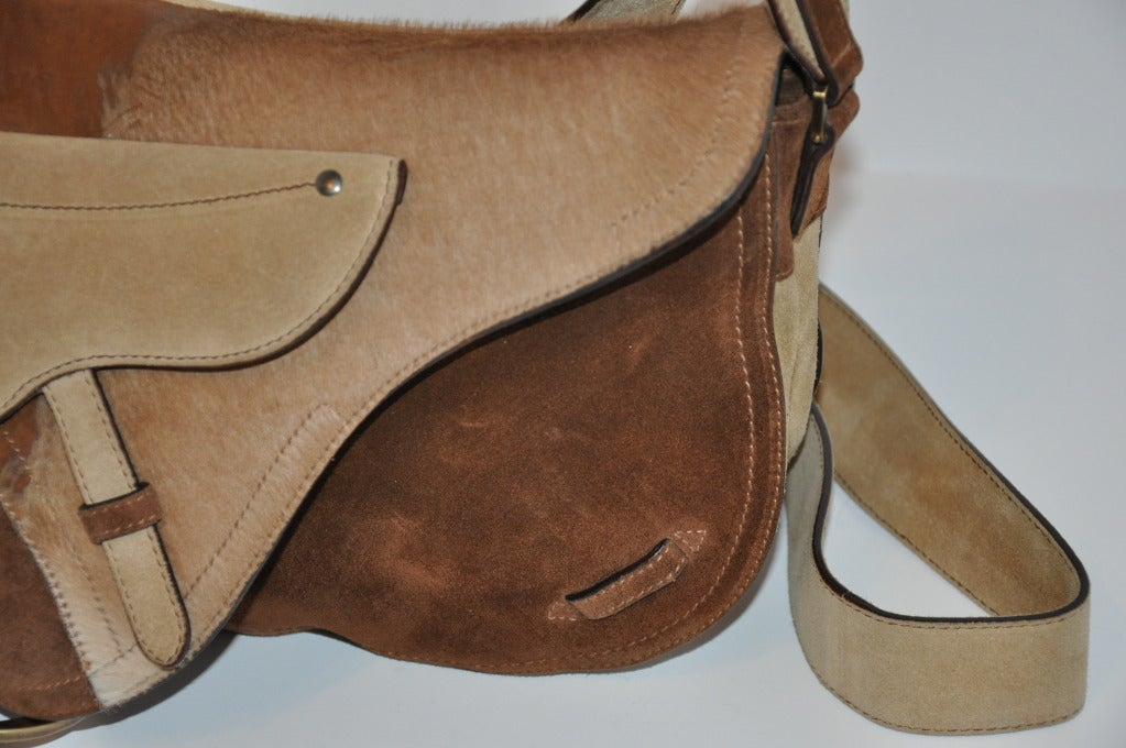 "Christian Dior Large ""Saddle"" Shoulder Bag For Sale 1"