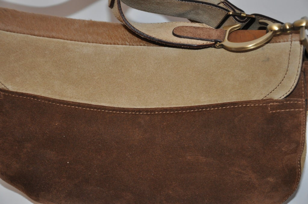 """Christian Dior Large """"Saddle"""" Shoulder Bag 7"""