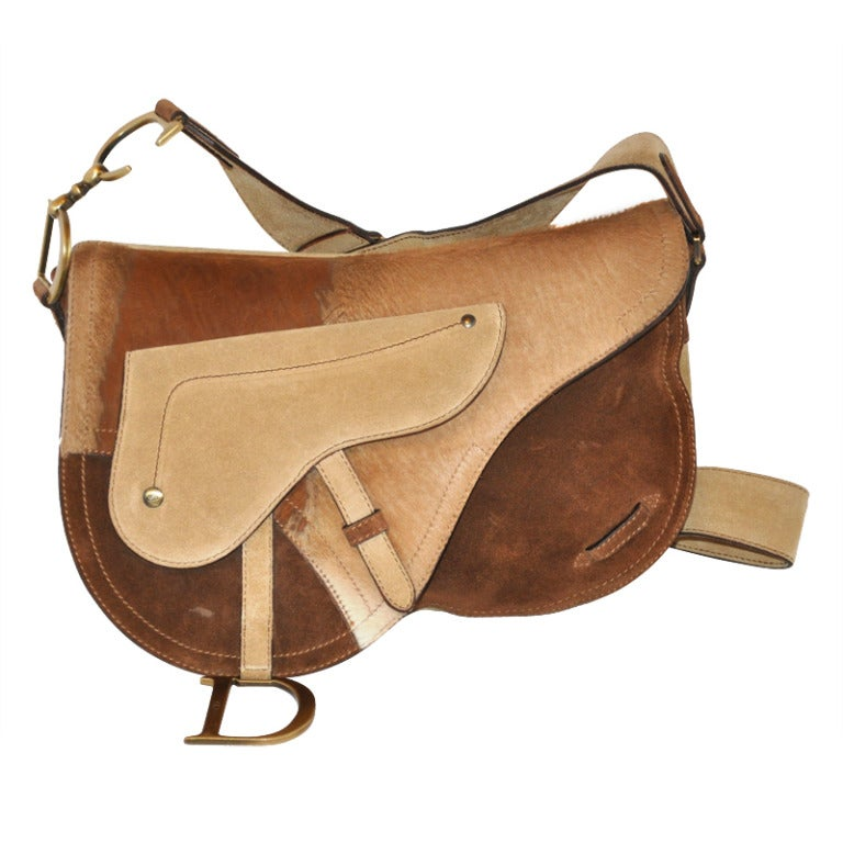 "Christian Dior Large ""Saddle"" Shoulder Bag For Sale"