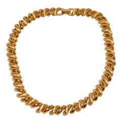 Napier Gilded & Brushed Gold Necklace