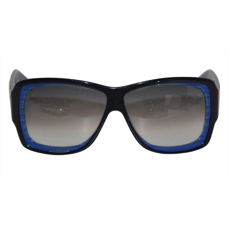 Yves Saint Laurent Shades of Blue and Black Sunglasses
