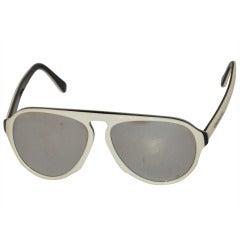Carrera White & Black Mirrored Sunglasses
