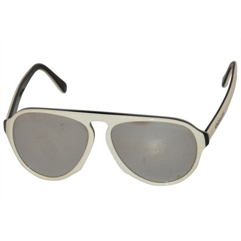 Carrera White & Black Mirrored Sunglasses