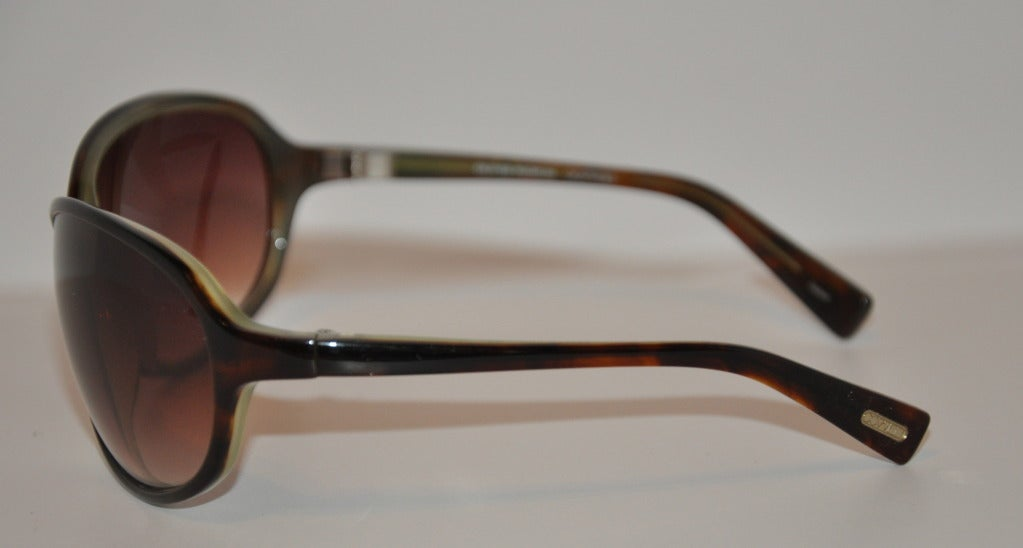Black Oliver Peoples Tortoise Shell Sunglasses For Sale