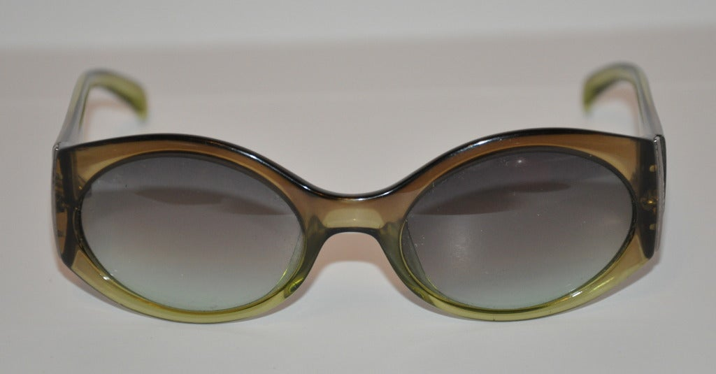 Christian Dior Clear Olive-Green Sunglasses 2