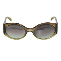 Christian Dior Clear Olive-Green Sunglasses