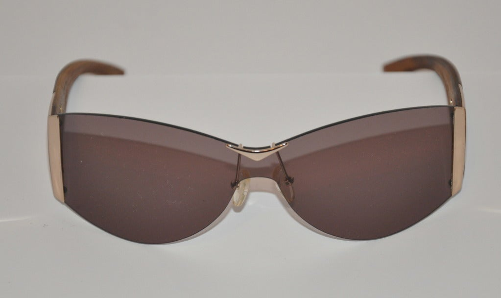 Alexander McQueen Hardware & Wood Sunglasses 2
