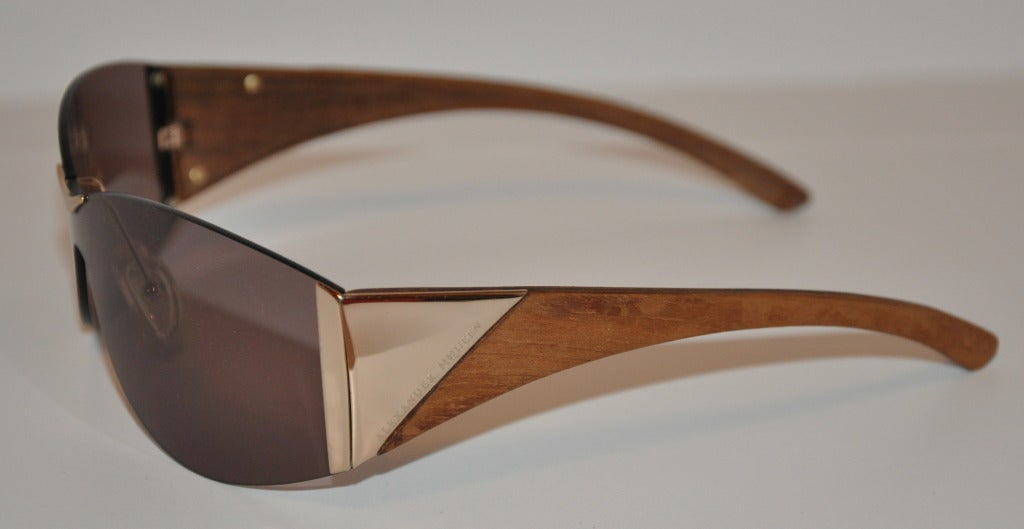 Alexander McQueen Hardware & Wood Sunglasses 3