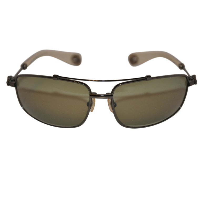 """Crome Hearts """"Limited Edition"""" Boned with Silver Embellishment Sunglasses"""