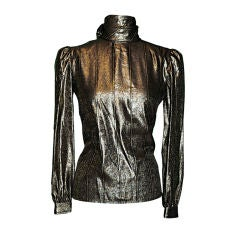 "Valentino ""Night"" gold lame blouse"