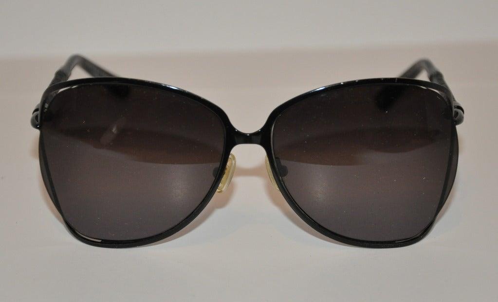 "Bottega Veneta ""Limited Edition"" Black with Woven Accent Sunglasses 2"