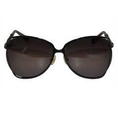 "Bottega Veneta ""Limited Edition"" Black with Woven Accent Sunglasses"