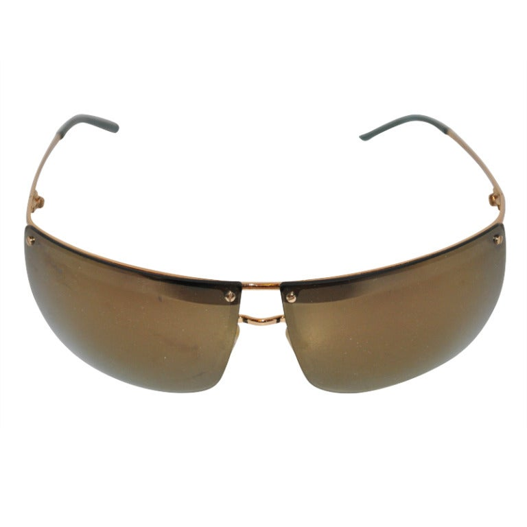 Gucci Mirrored with Gold Hardware Sunglasses