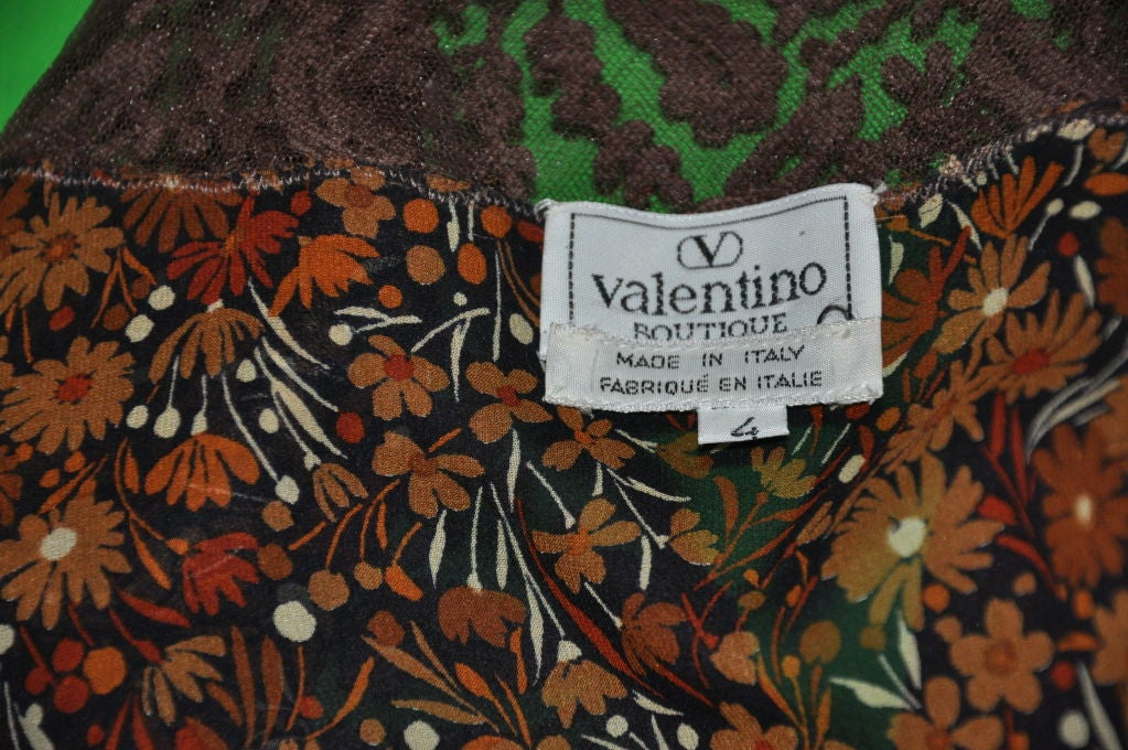 Valentino 'Boutique' Floral chiffon & Lace top 5