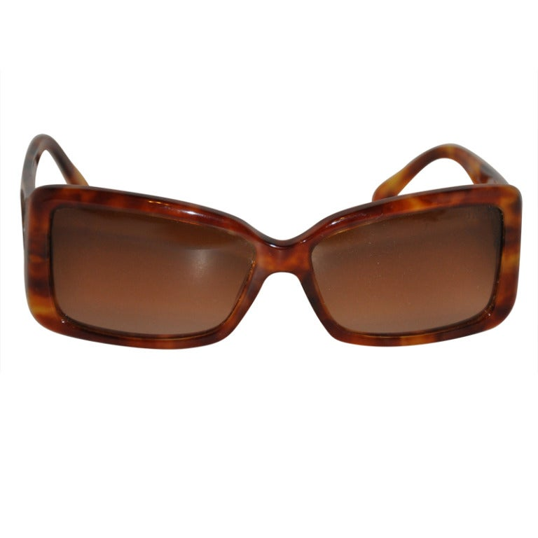 Tiffany & Co Tortoise Shell with Sterling Silver Name Plates Sunglasses