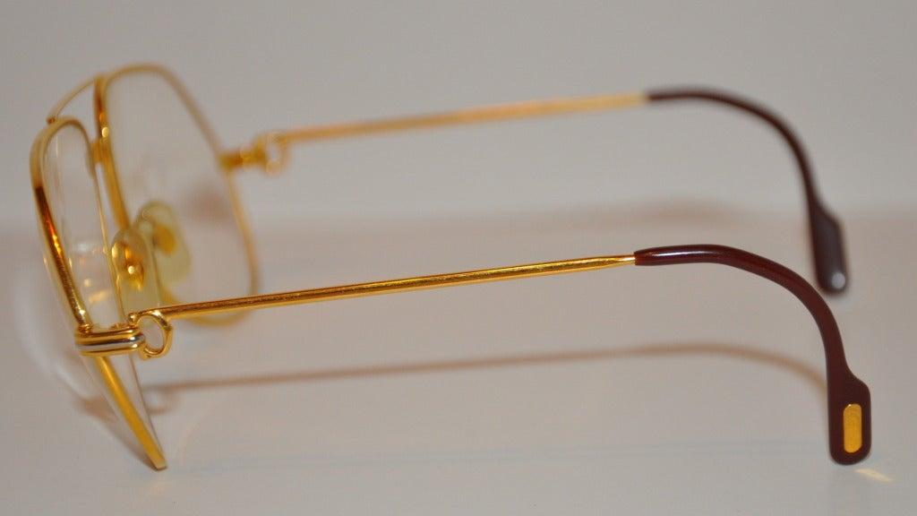 cartier s 18k gold frame glasses at 1stdibs