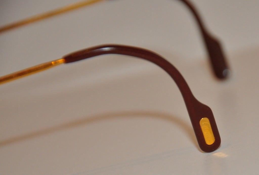 cartier mens 18k gold frame glasses 3