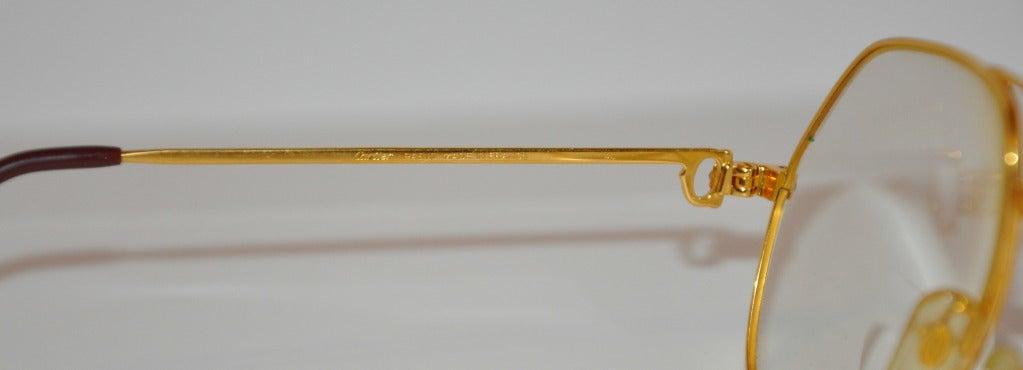 Cartier Glasses Gold Frames : Cartier Mens 18K Gold Frame Glasses For Sale at 1stdibs