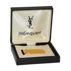 Yves Saint Laurent Men's Money Clip with Diamond Stud Accent