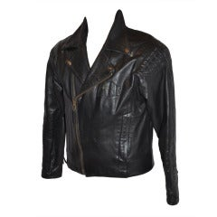Harley Davidson Black Leather Men's Detailed M.C. Jacket