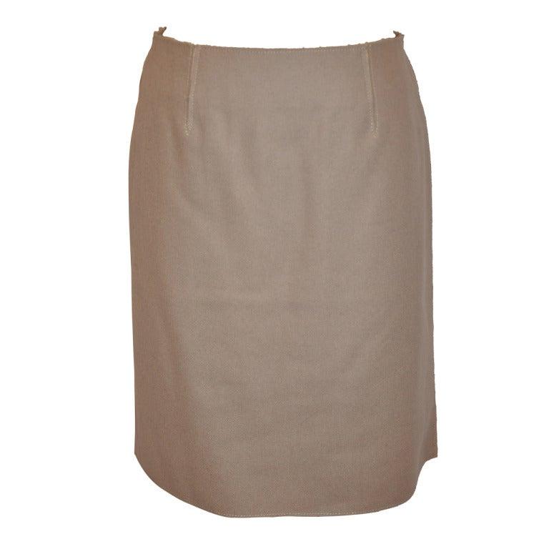 Dolce & Gabbana / Bergdorf Goodman Wool & Spandex Deconstructed Skirt