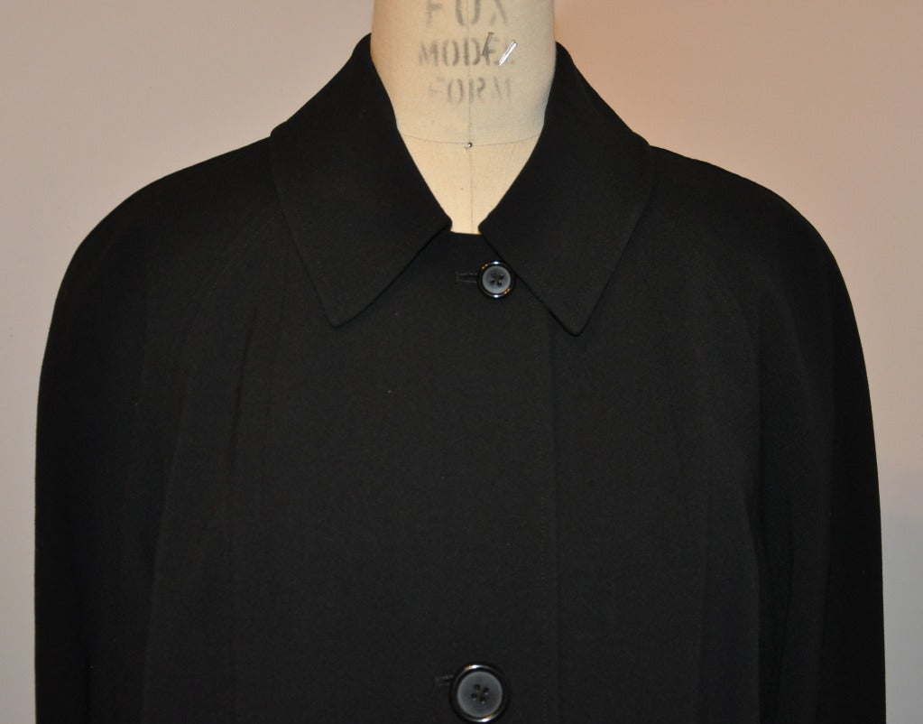 Ralph Lauren Purple-Label Black Trench Coat In Good Condition For Sale In New York, NY