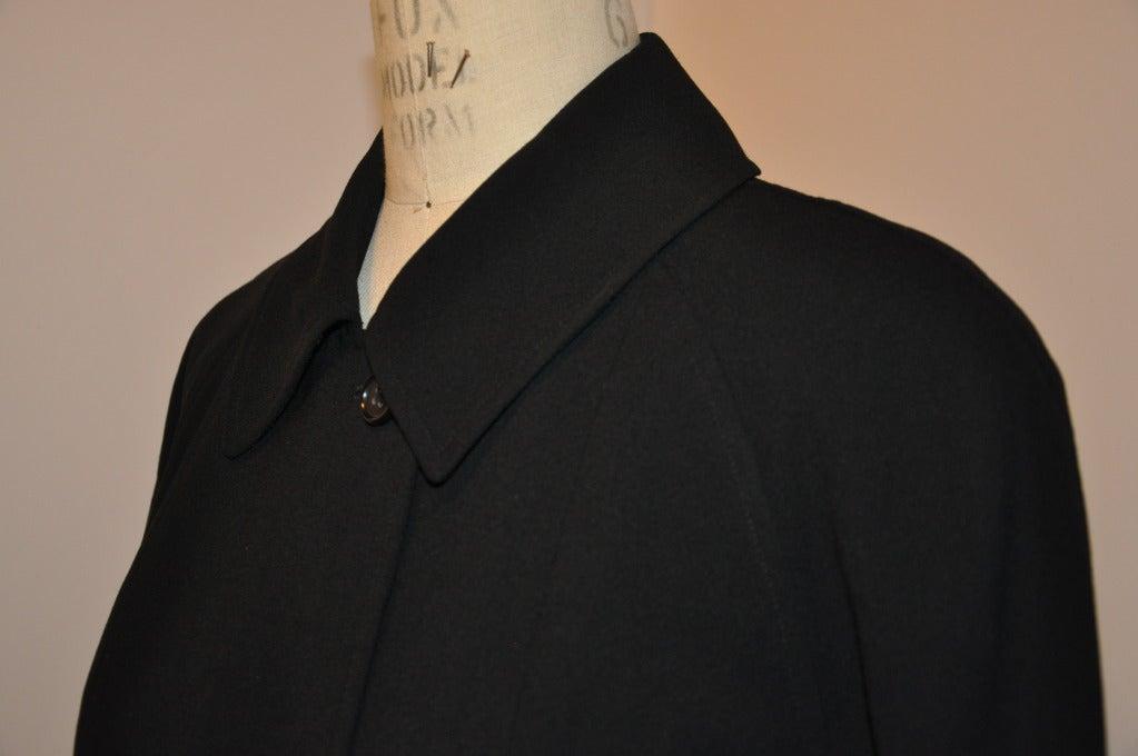 Women's Ralph Lauren Purple-Label Black Trench Coat For Sale