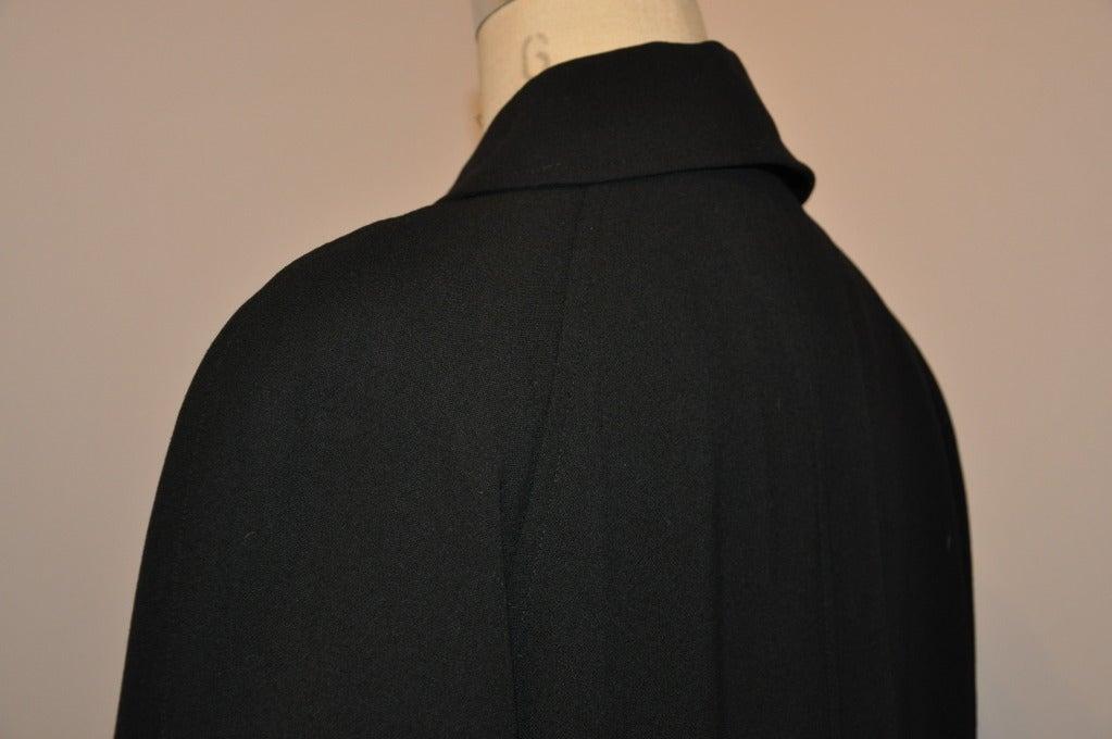 Ralph Lauren Purple-Label Black Trench Coat For Sale 1