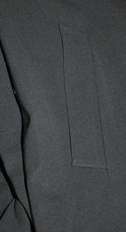 Ralph Lauren Purple-Label Black Trench Coat For Sale 2