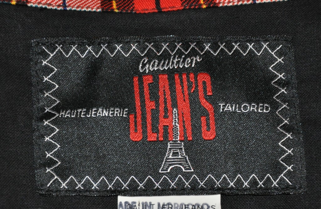 Jean Paul Gaultier Plaid Cropped Button-Down Top 3