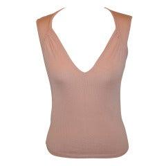 Genny Powder Pink Cashmere Top