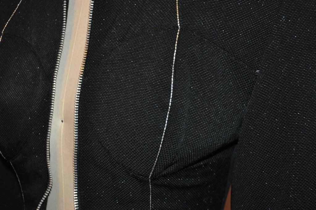 Black Yoshji Yamamoto Padded-Front Zipper Jacket For Sale