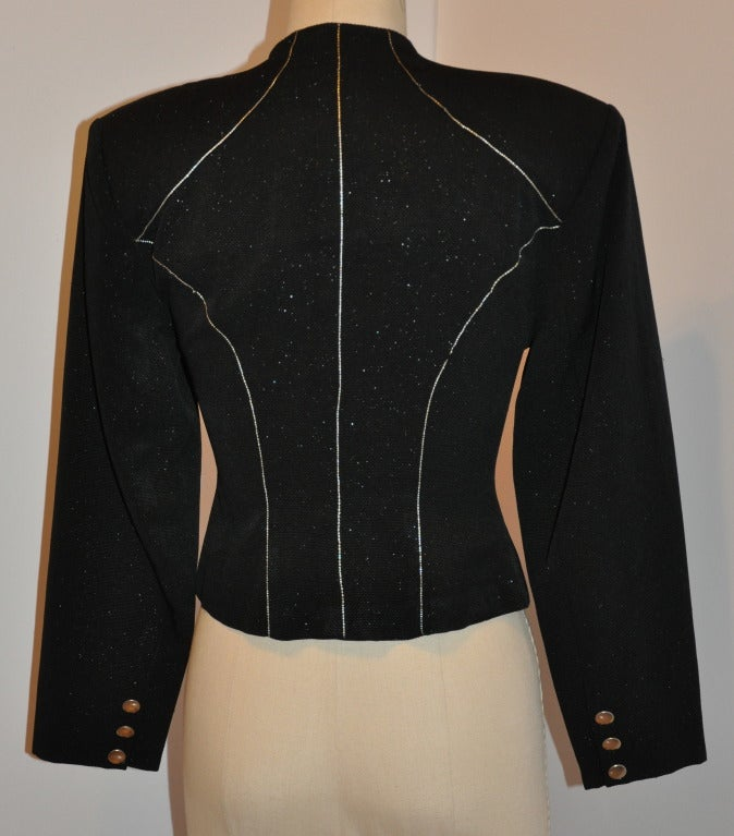 Yoshji Yamamoto Padded-Front Zipper Jacket In Excellent Condition For Sale In New York, NY